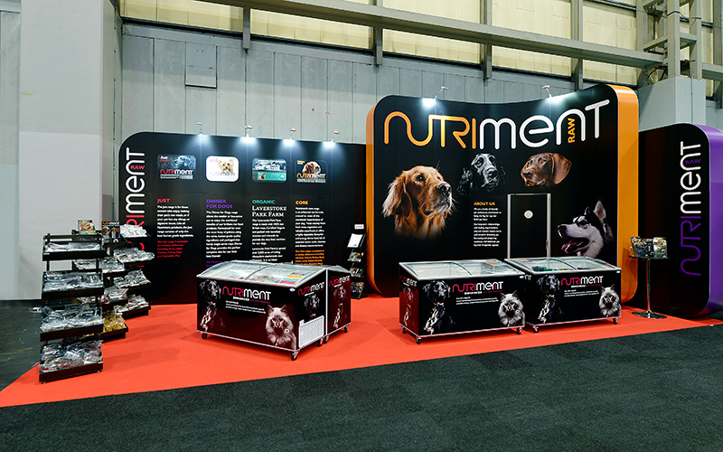 Nutriment Exhibition Stand at Crufts 2018