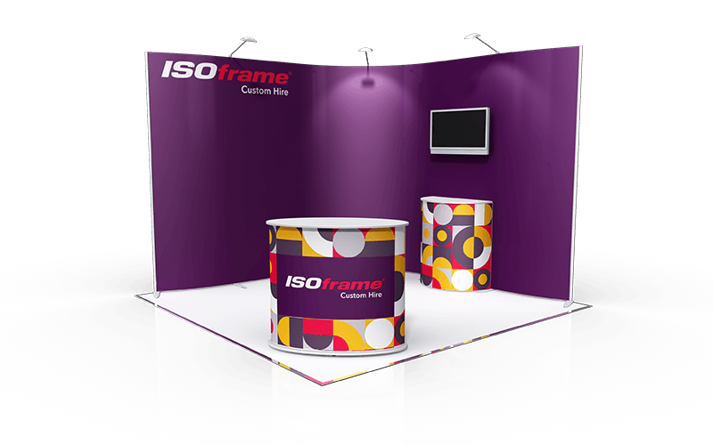 ISOframe Custom Exhibition Stand Hire Package 1