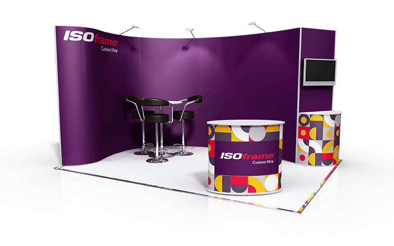 ISOframe Custom Exhibition Stand Hire Package 2