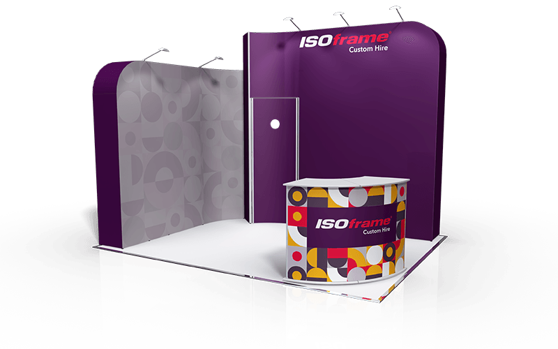ISOframe Custom Exhibition Stand Hire Package 3