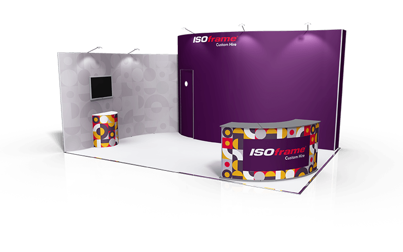 ISOframe Custom Exhibition Stand Hire Package 4