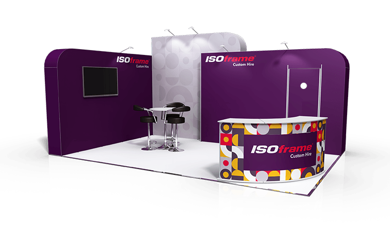 ISOframe Custom Exhibition Stand Hire Package 5