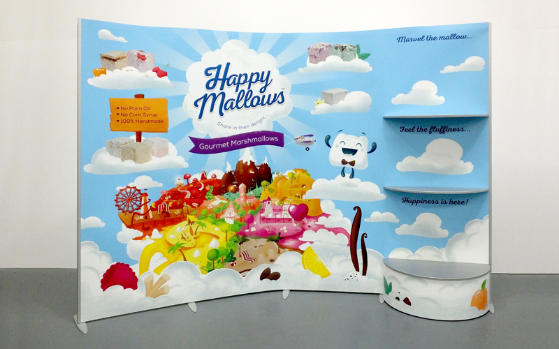 Happy Mallows Exhibition Stand