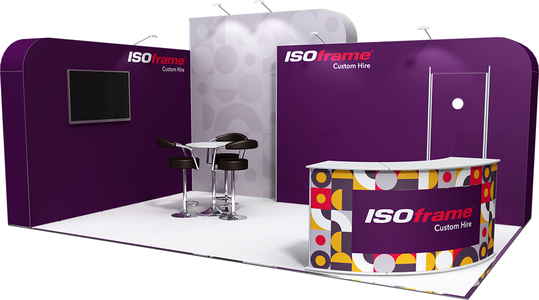 ISOframe Custom Hire Exhibition Stand