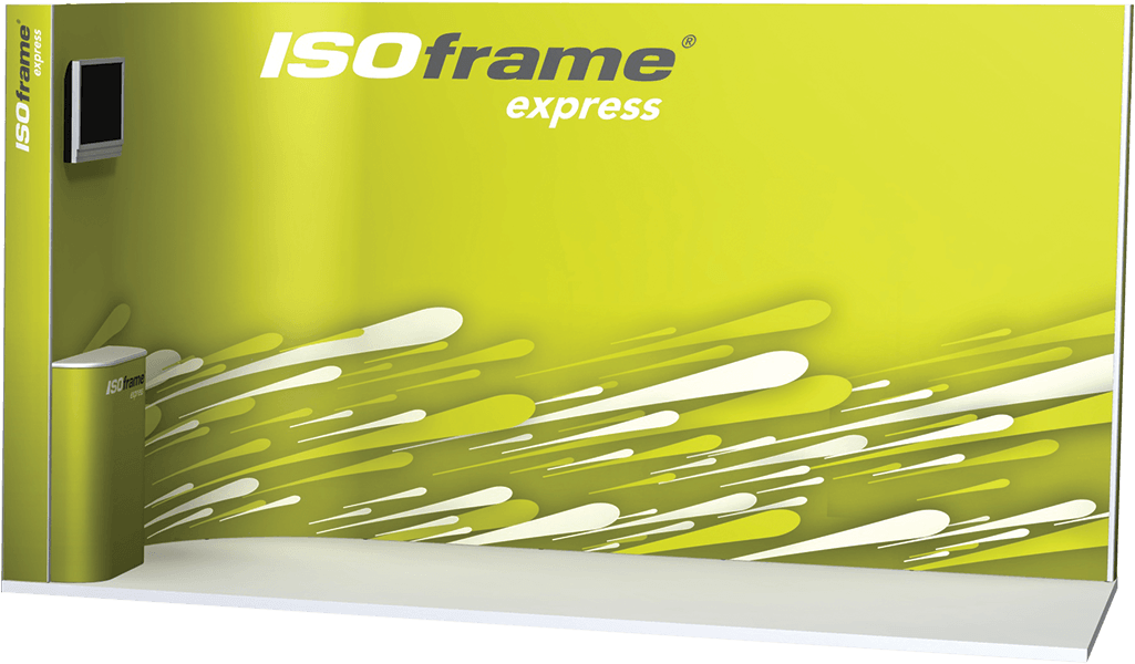 Corner Exhibition Stands Up : Express pop up fast assembly for mobile exhibitors isoframe