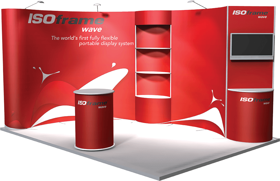 Exhibition Stand Png : Wave the re sizable exhibition stand isoframe intelligent