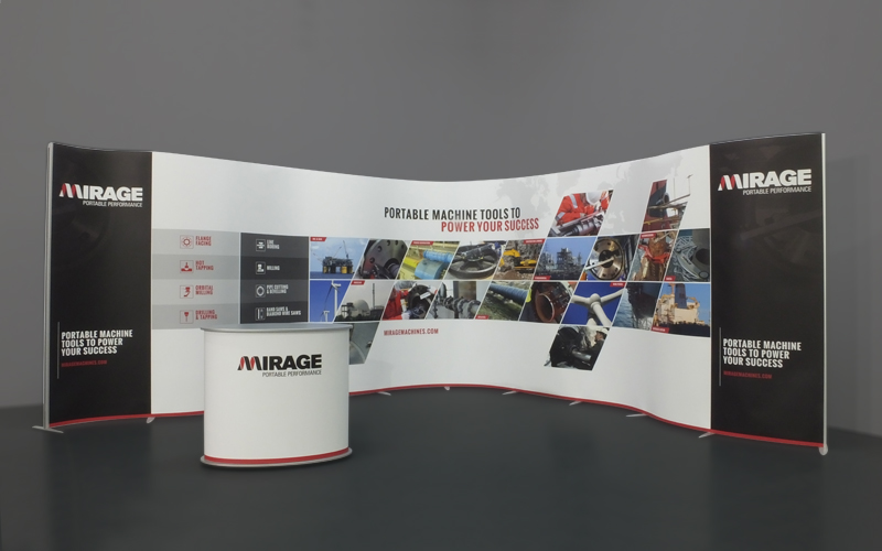 ISOframe Wave Exhibition Stand 8m x 4m