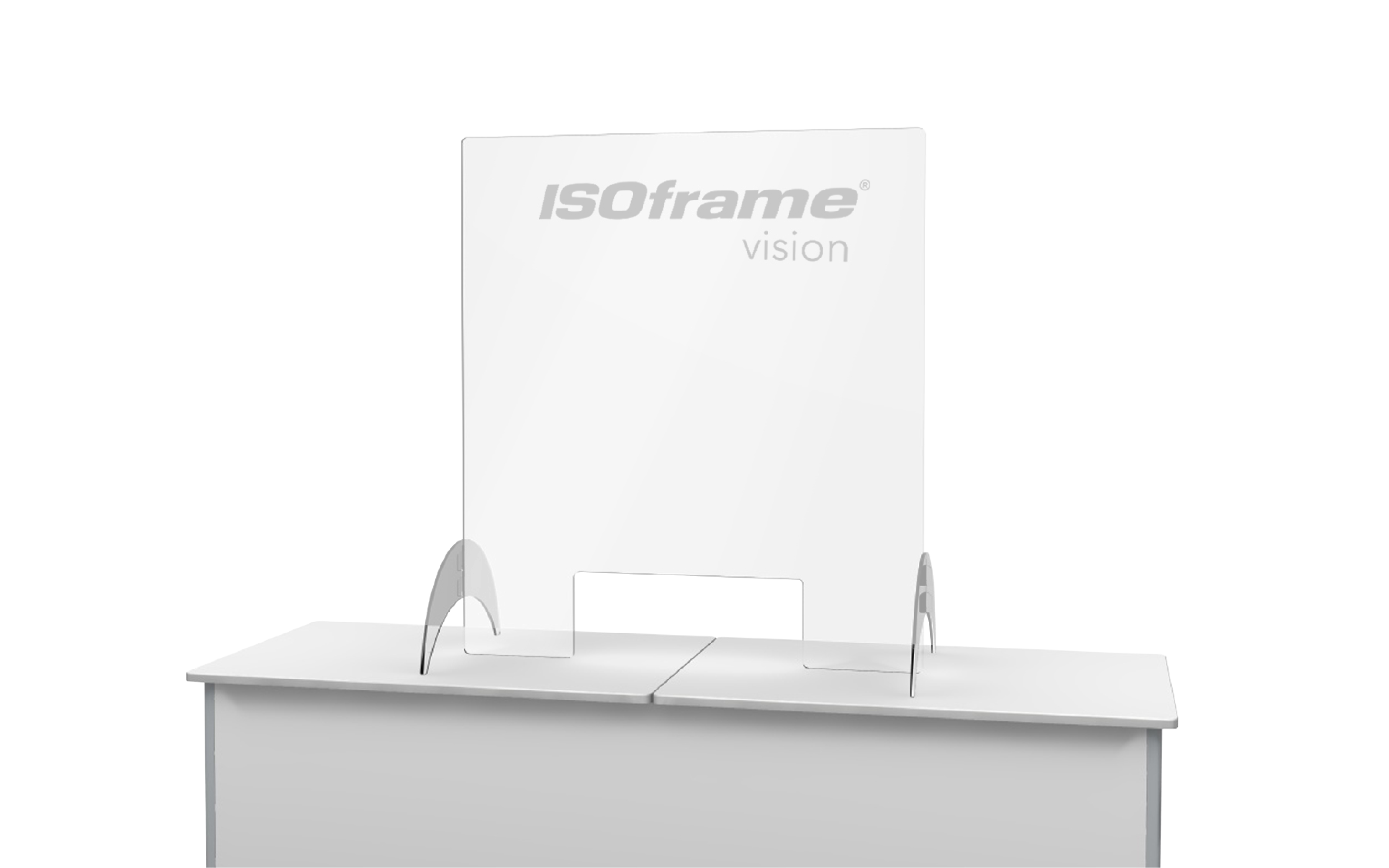 ISOframe Hygienic Free Standing Counter Screen
